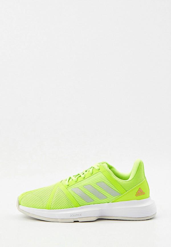 Кроссовки adidas зеленого цвета