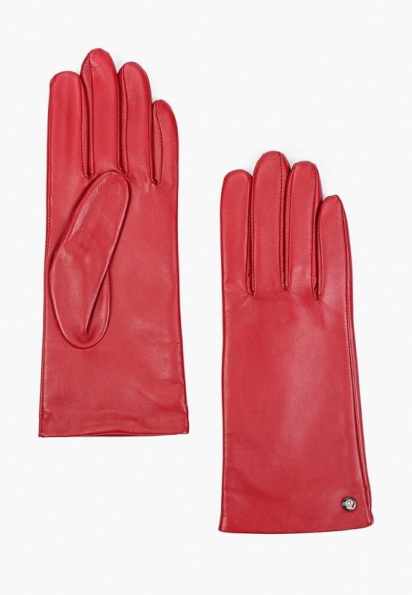 женские кожаные перчатки roeckl, красные