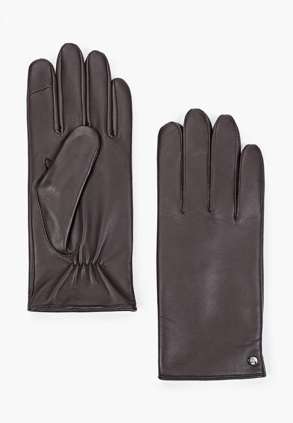 мужские кожаные перчатки roeckl, коричневые