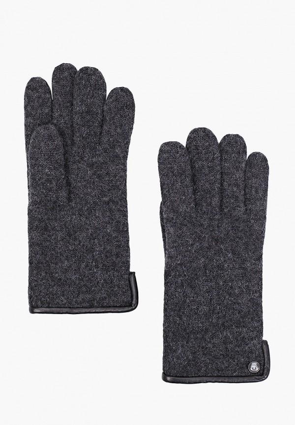 мужские текстильные перчатки roeckl, серые