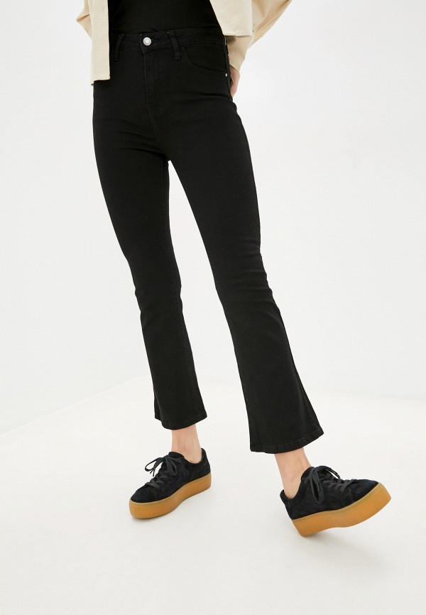женские джинсы клеш g&g, черные