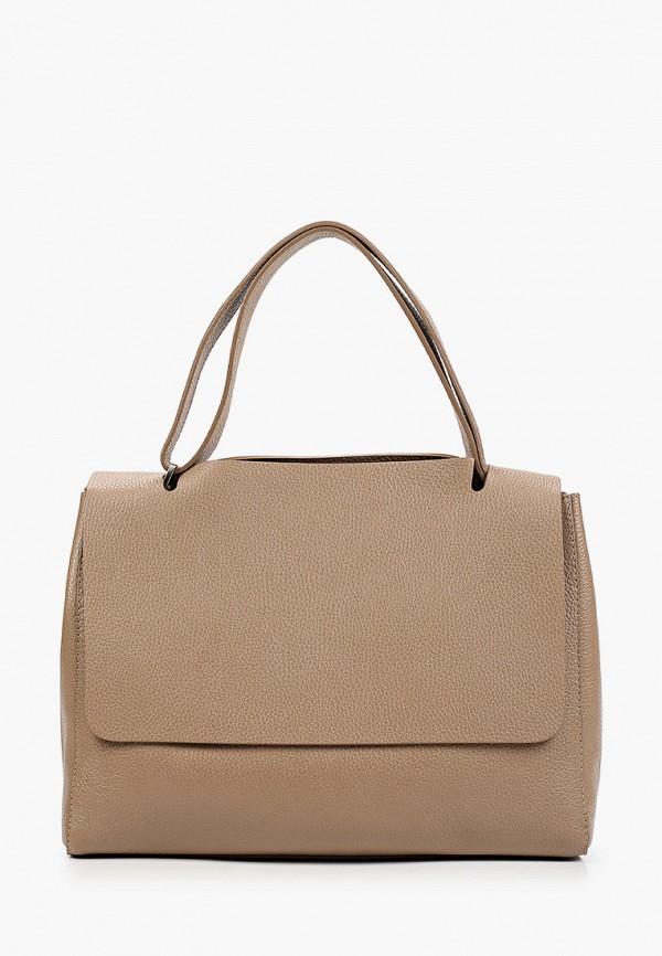 женская сумка с ручками kristy.x, коричневая