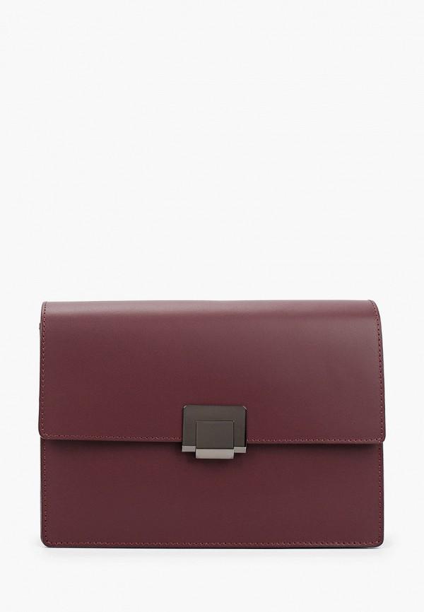 женская сумка через плечо kristy.x, бордовая