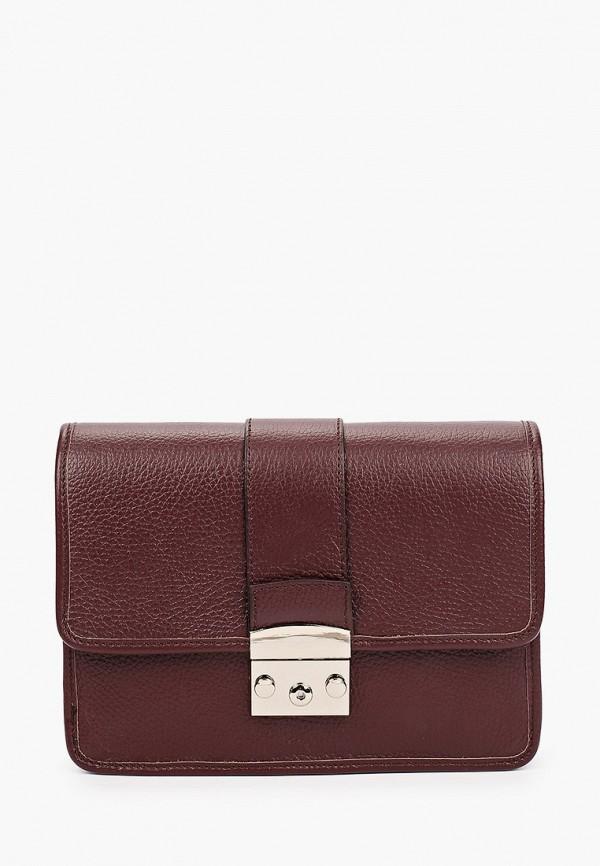 женская сумка с ручками kristy.x, бордовая