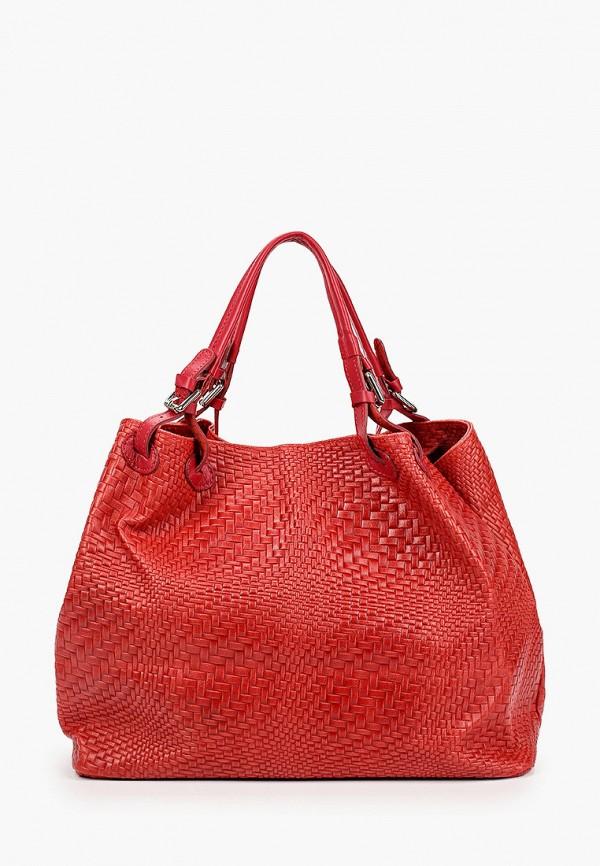 женская сумка с ручками kristy.x, красная