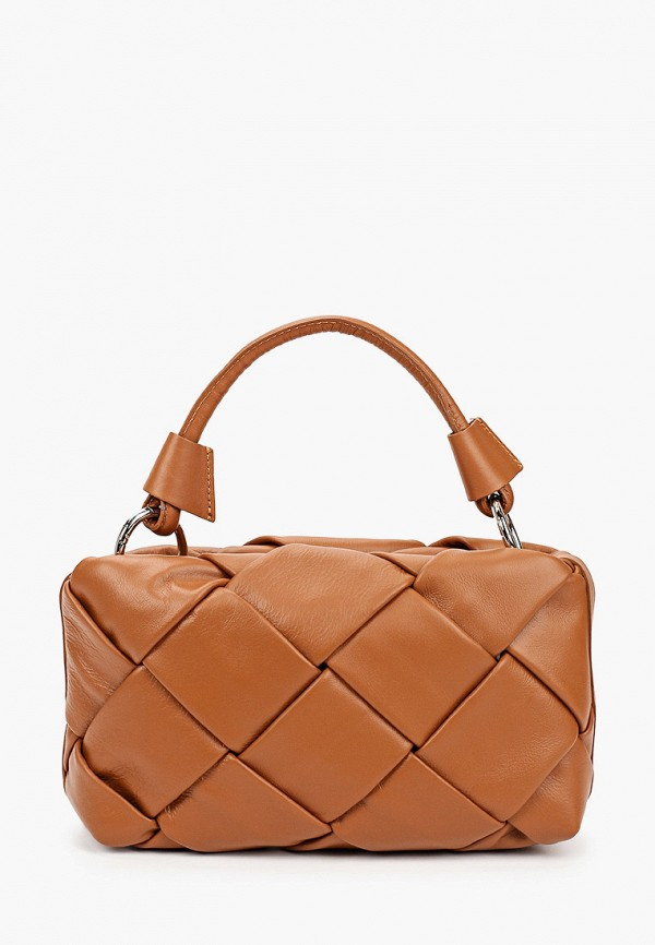 женская сумка с ручками lamania, коричневая