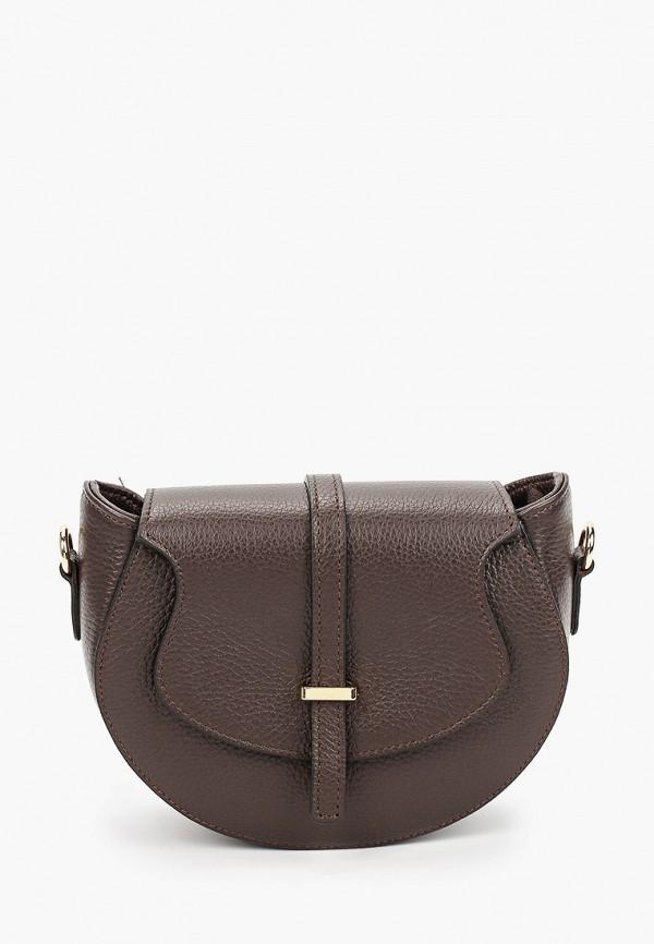 женская сумка через плечо lamania, коричневая