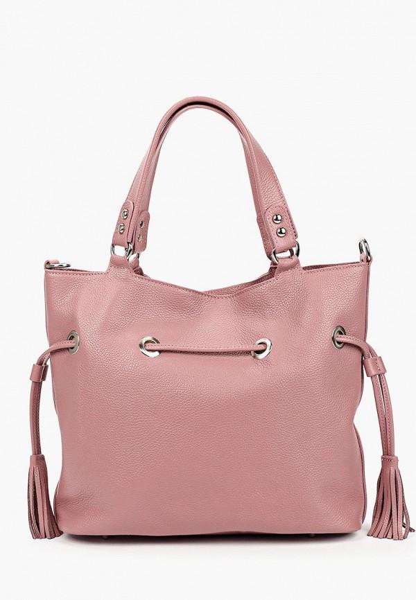 женская сумка с ручками lamania, розовая
