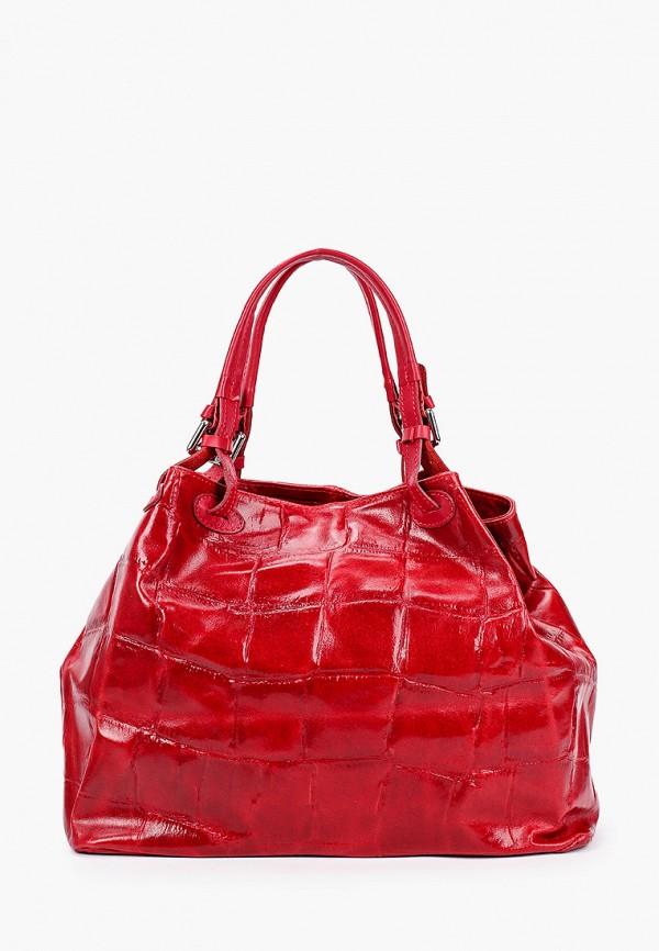 женская сумка с ручками lamania, красная