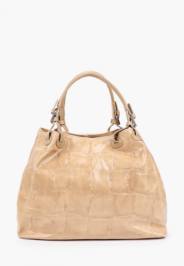 женская сумка с ручками lamania, бежевая