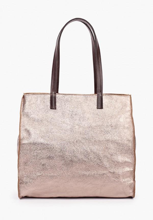женская сумка с ручками lamania, золотая
