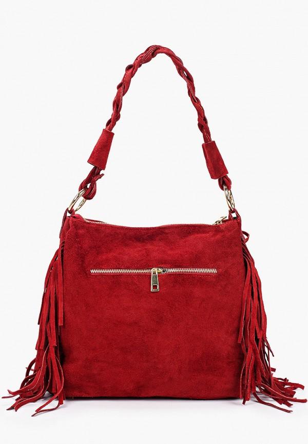 женская сумка с ручками lamania, бордовая