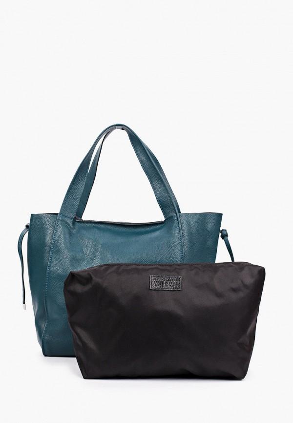 женская сумка-шоперы lamania, зеленая