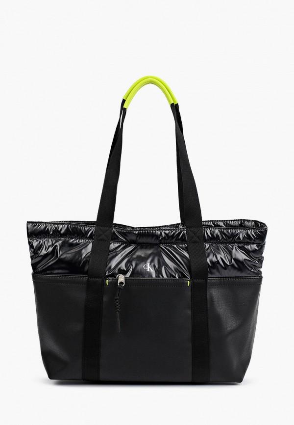 женская сумка-шоперы calvin klein, черная