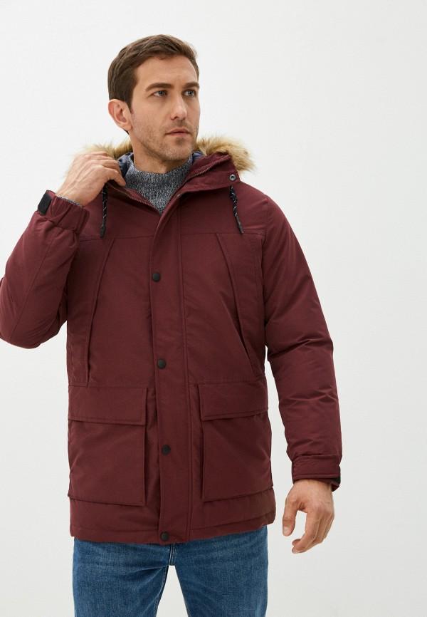 мужская куртка produkt, бордовая