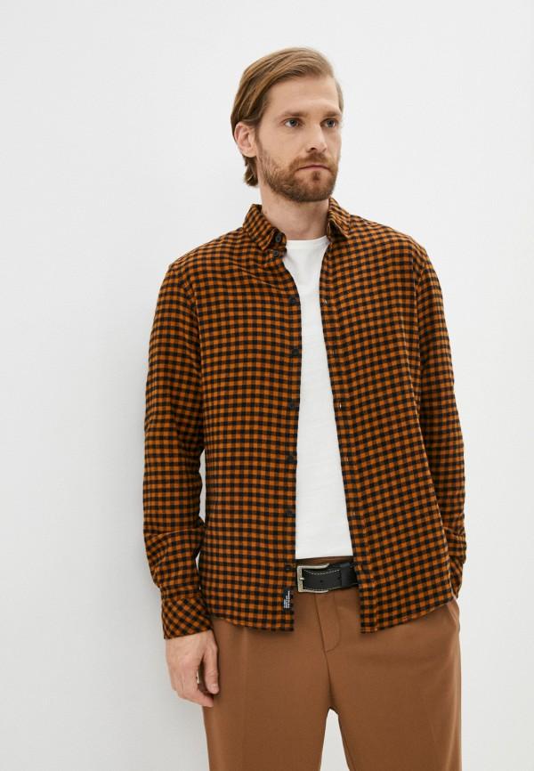 мужская рубашка с длинным рукавом blend, оранжевая