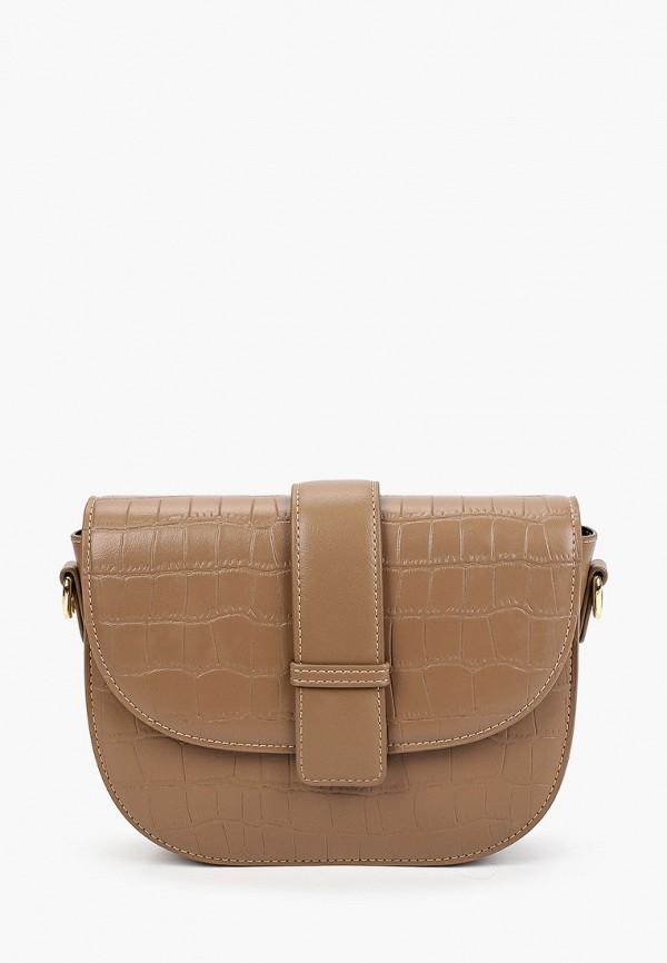женская сумка через плечо baggini, коричневая