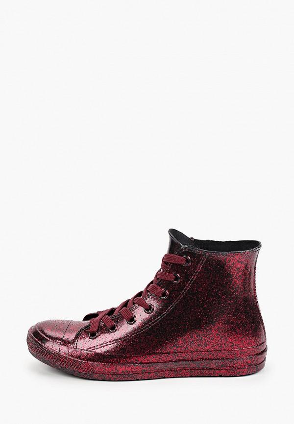 женские ботинки mon ami, бордовые