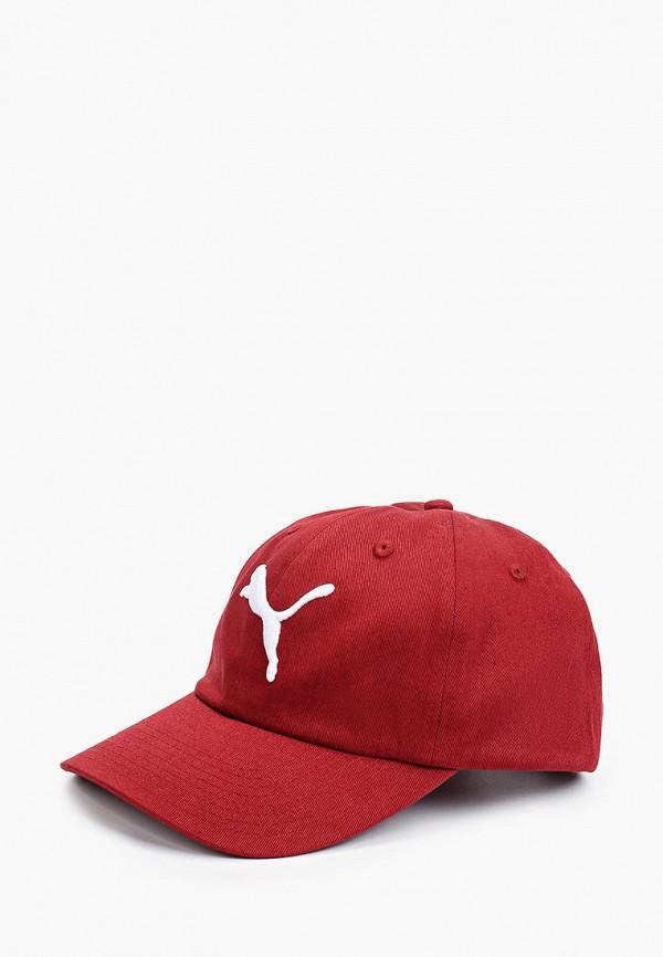 женская бейсболка puma, бордовая
