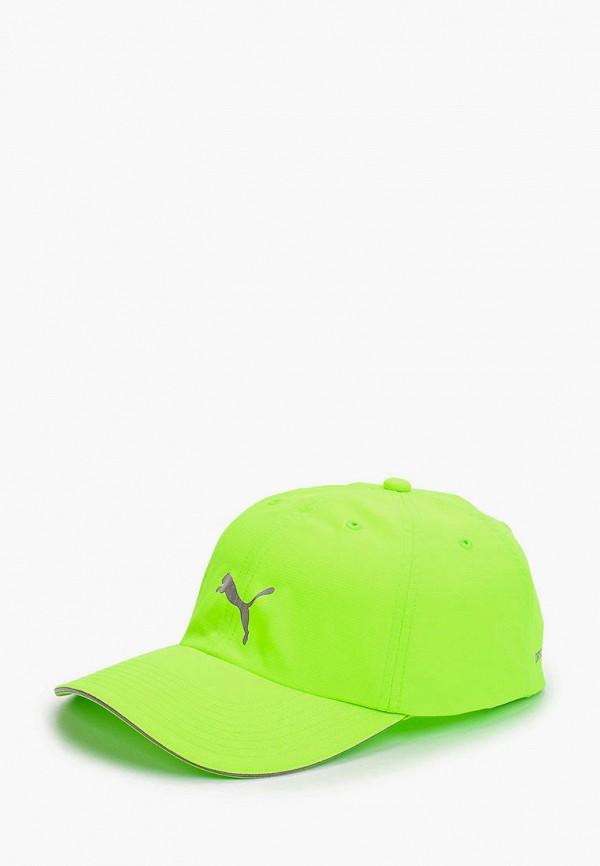 женская бейсболка puma, зеленая