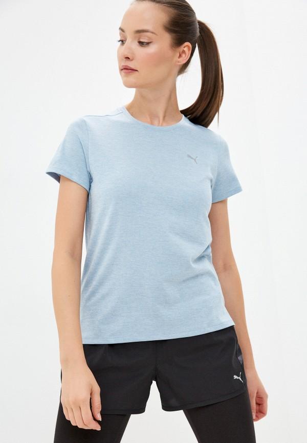 женская спортивные футболка puma, голубая