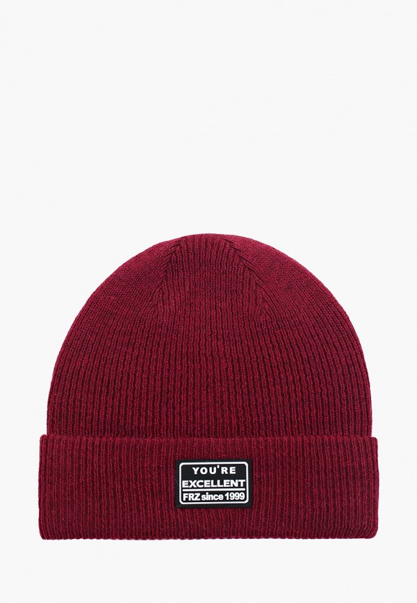 женская шапка ferz, бордовая