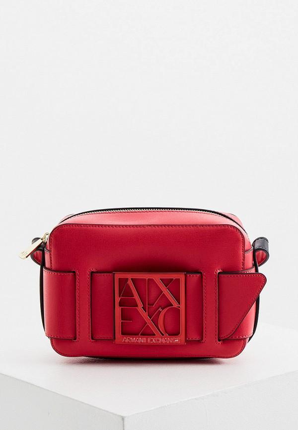 женская сумка через плечо armani exchange, розовая