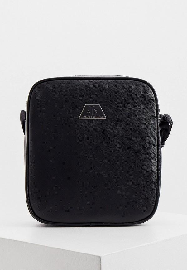 мужская сумка armani exchange, черная