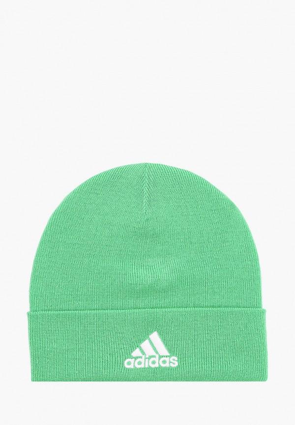 женская шапка adidas, зеленая