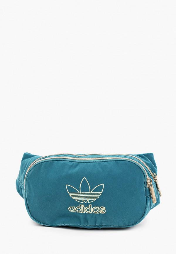 женская поясные сумка adidas, бирюзовая