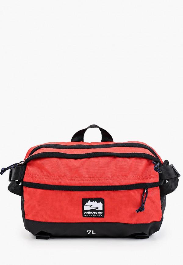 женская сумка adidas, красная
