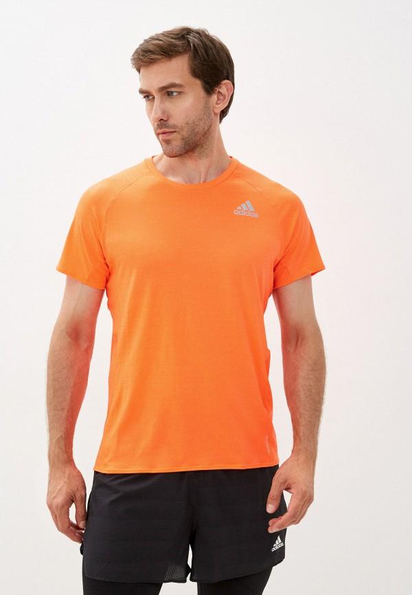 мужская спортивные футболка adidas, оранжевая