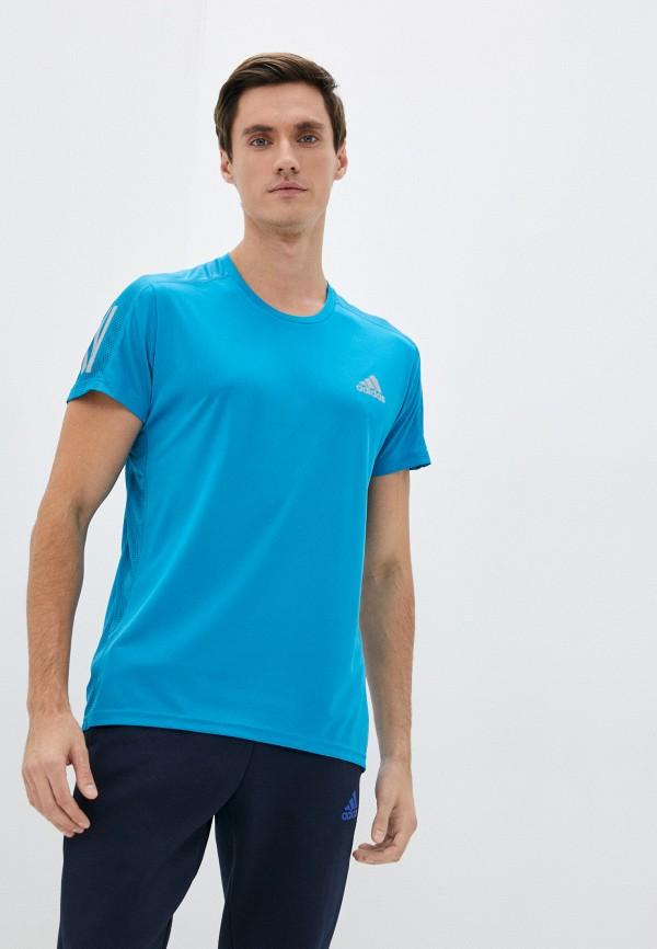 мужская спортивные футболка adidas, бирюзовая