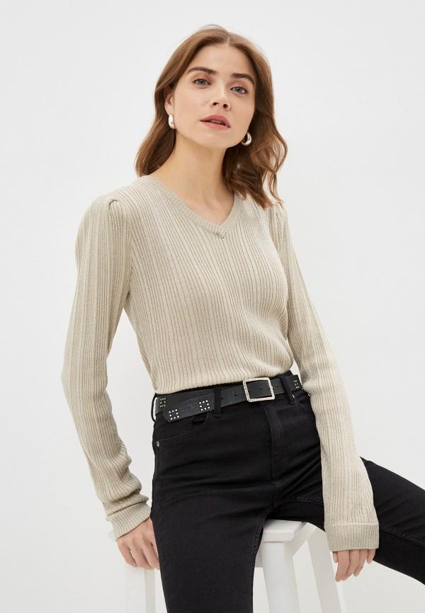 женский пуловер silvian heach, бежевый