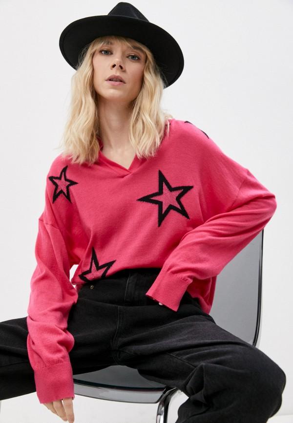 женский пуловер twinset milano, розовый