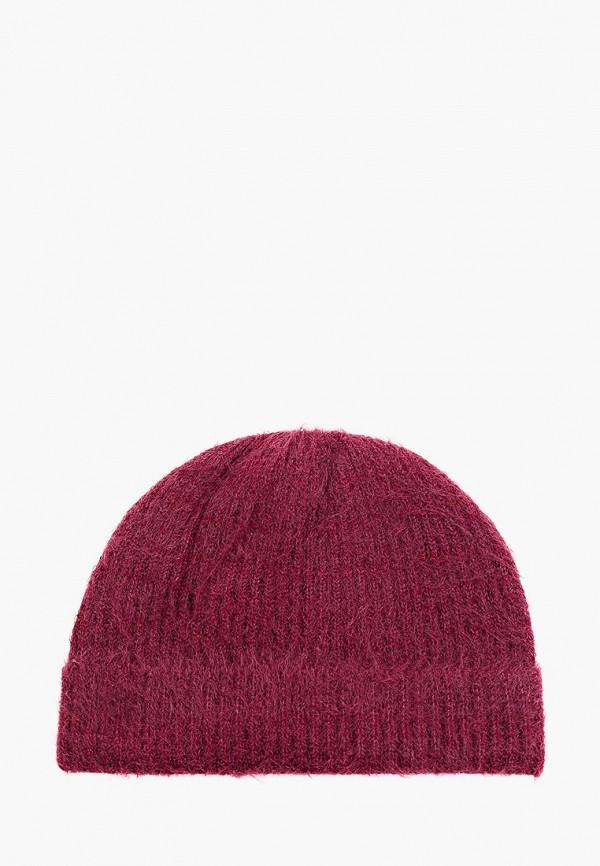 женская шапка koton, бордовая
