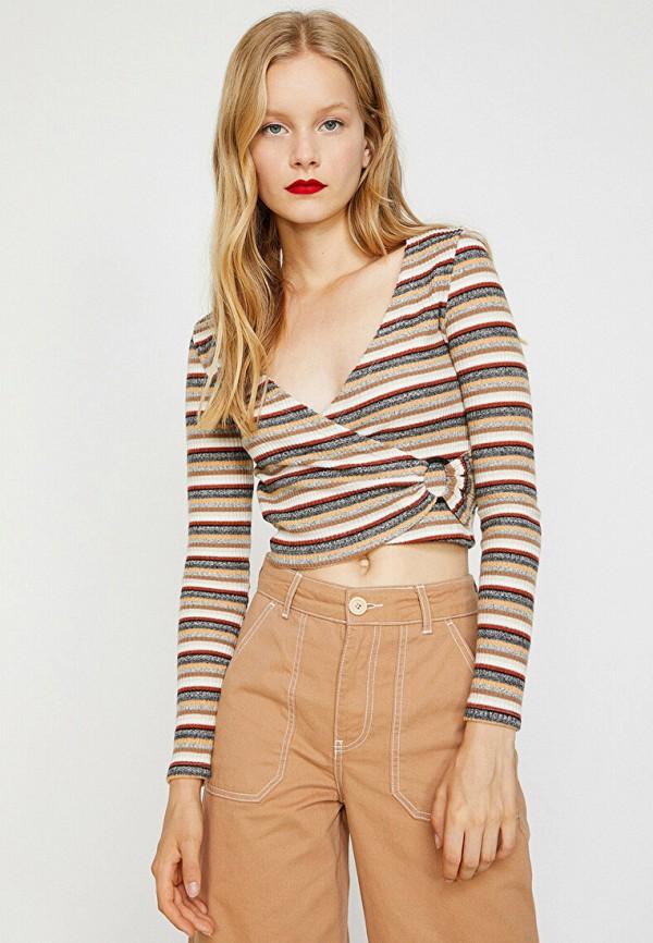 женский пуловер koton, разноцветный