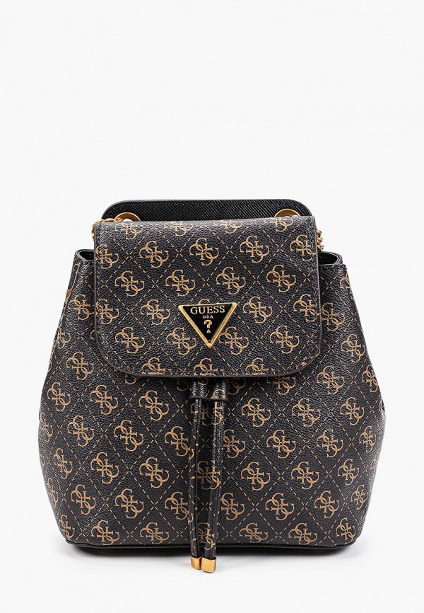женские брюки guess, коричневые