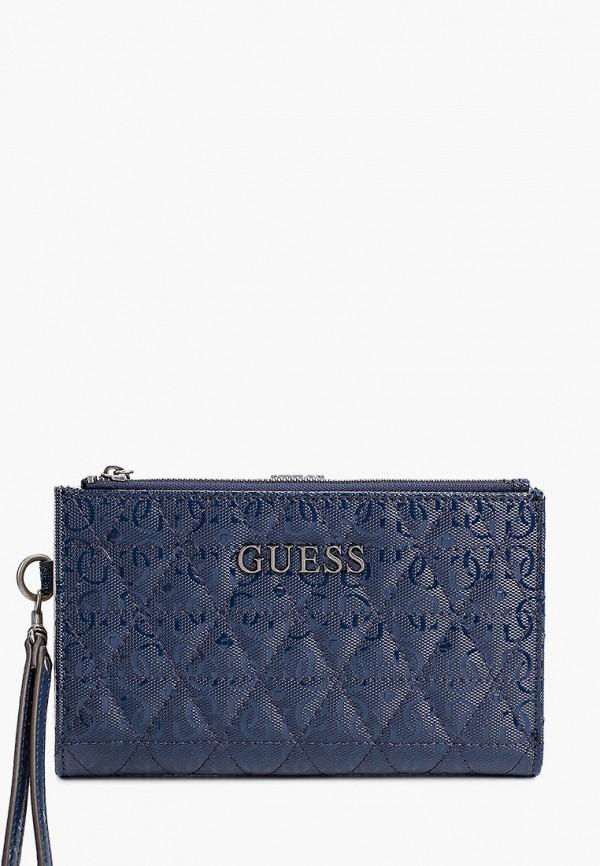 женский кошелёк guess, синий