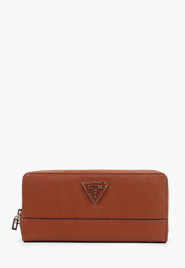 женский кошелёк guess, коричневый