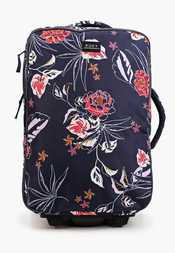 женский чемодан roxy, синий