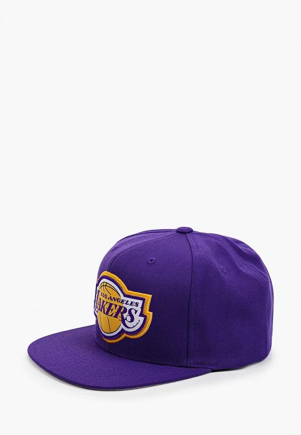 женская бейсболка mitchell & ness, фиолетовая