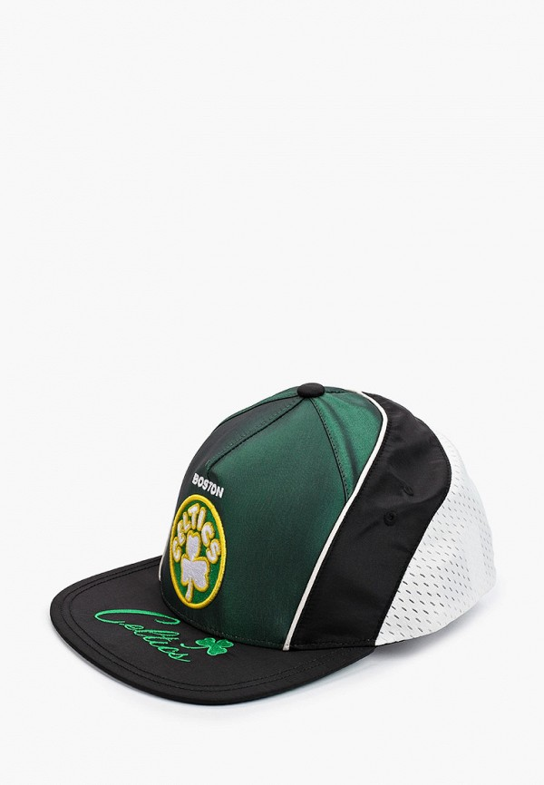 женская бейсболка mitchell & ness, зеленая