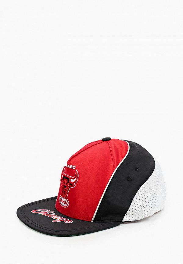 женская бейсболка mitchell & ness, красная