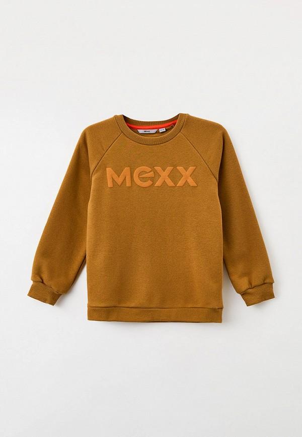 свитшот mexx для мальчика, коричневый