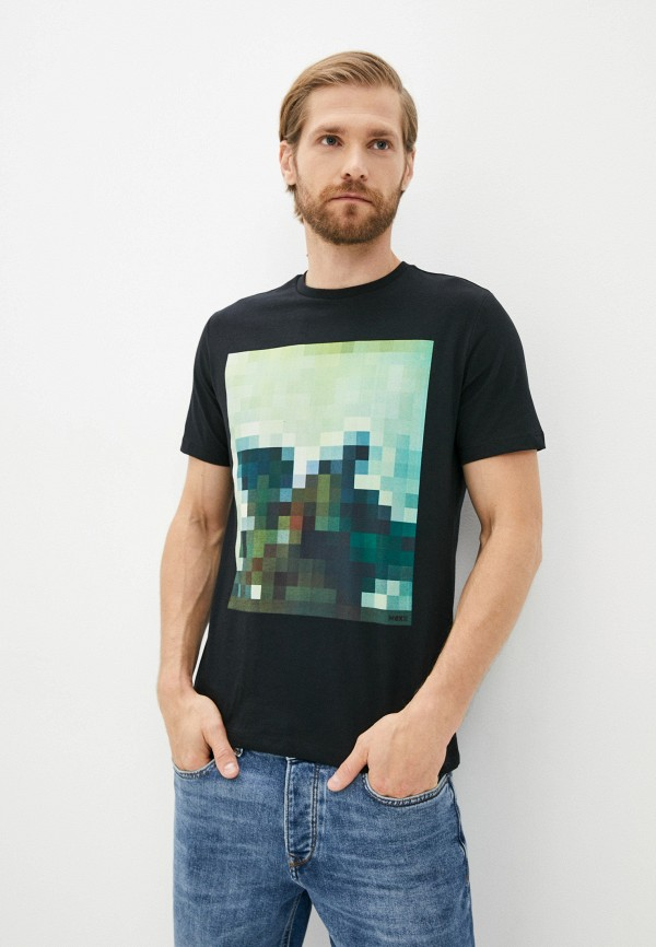 мужская футболка с коротким рукавом mexx, черная