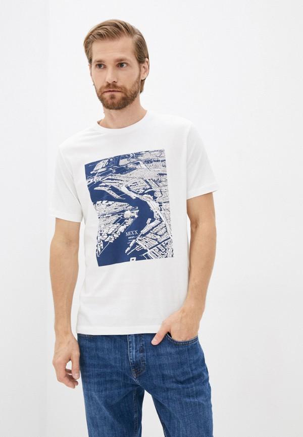 мужская футболка с коротким рукавом mexx, белая
