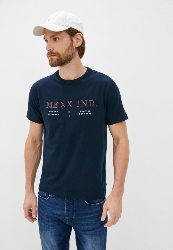 мужская футболка с коротким рукавом mexx, синяя