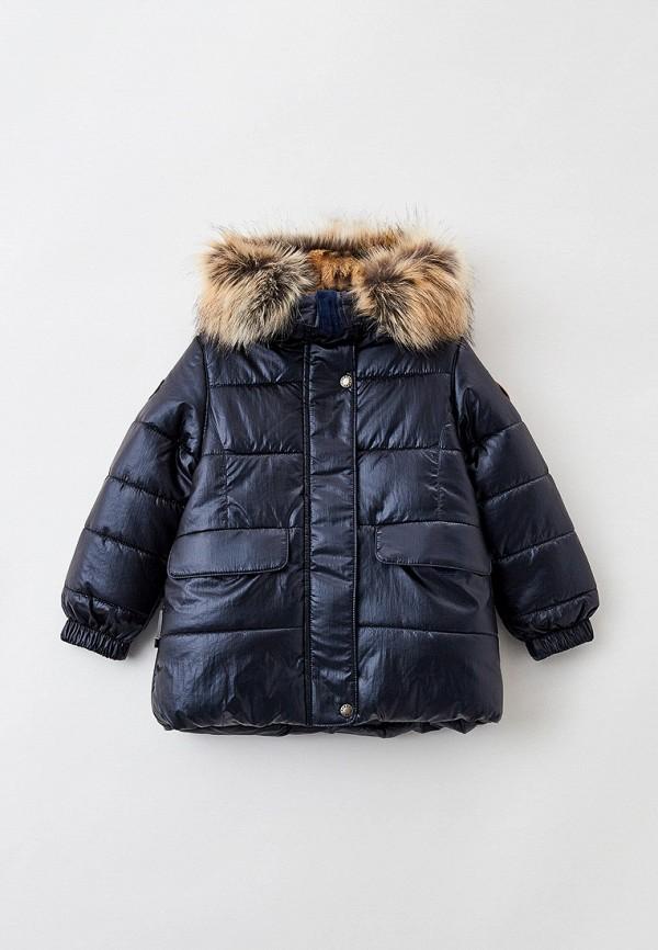 куртка kerry для девочки, синяя