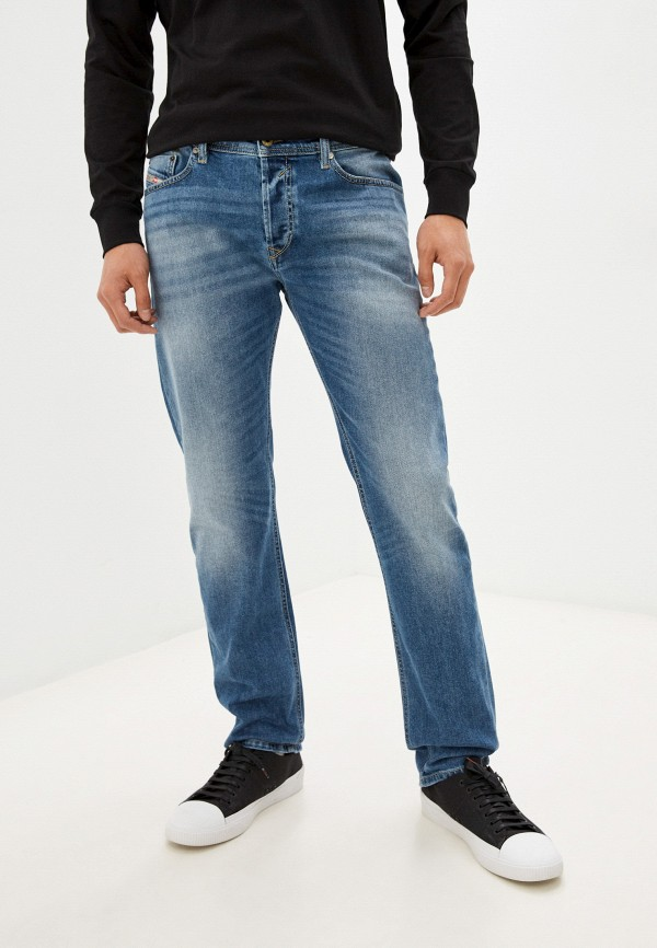 мужские прямые джинсы diesel, голубые
